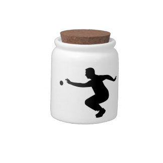 Petanque player candy dish