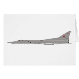 Petardeo de Tu-22M Tarjeta De Felicitación