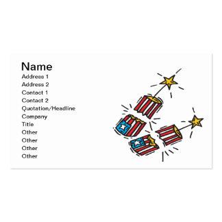 Petardo americano plantilla de tarjeta personal