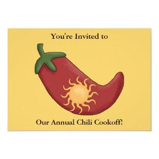 Petardo de la pimienta de chile rojo - fiesta invitación 12,7 x 17,8 cm