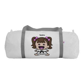 Petate del karate del chica dulce bolsa de deporte