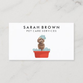 Petcare veterinary PetSitter Walker dog hotel shop Business Card