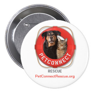 PetConnect Rescue 3 Inch Round Button