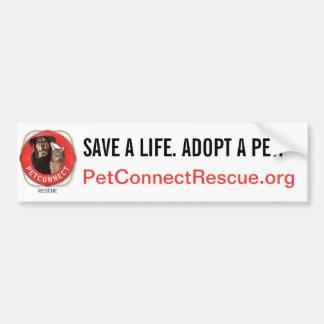 PetConnect Rescue Car Bumper Sticker