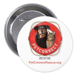 PetConnect Rescue Pinback Button