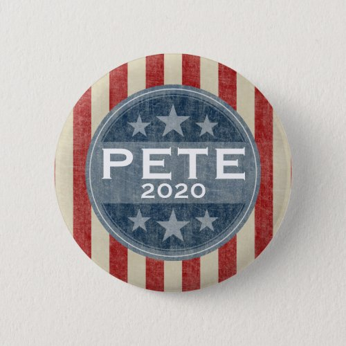 Pete 2020 _ vintage stars and stripes button