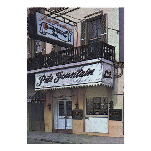 Pete Fountain's Club, New Orleans Poster