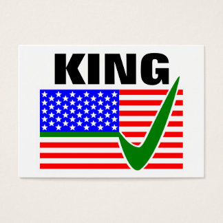 Pete King For President 2016 Business Card