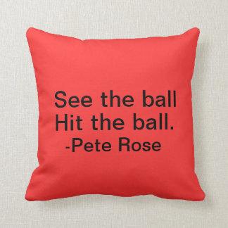 Pete Rose throw pillow