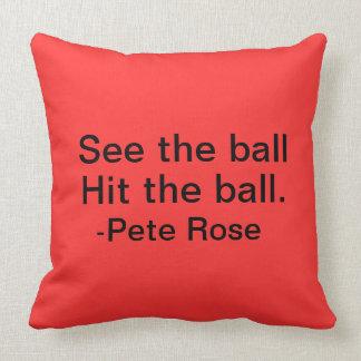 Pete subió la almohada de tiro