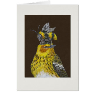 Pete the Cape May warbler card