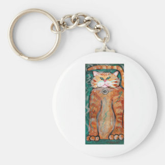 Pete the Cat Basic Round Button Keychain