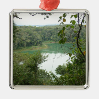 Peten Itza Rain Forest Lake Metal Ornament