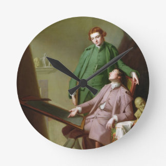 Peter and James Romney, 1766 (oil on canvas) Wall Clock