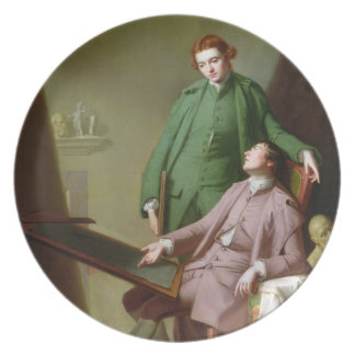 Peter and James Romney, 1766 (oil on canvas) Melamine Plate