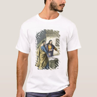 Peter and John at the Sepulchre, from a bible prin T-Shirt