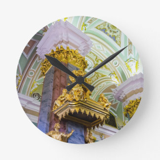 Peter and Paul Fortress St. Petersburg Russia Round Clock