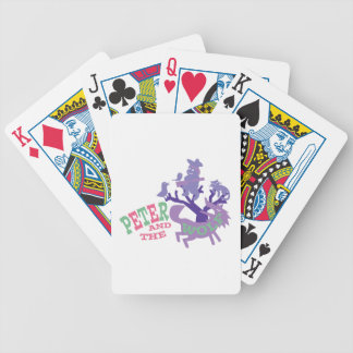 Peter And The Wolf Bicycle Playing Cards