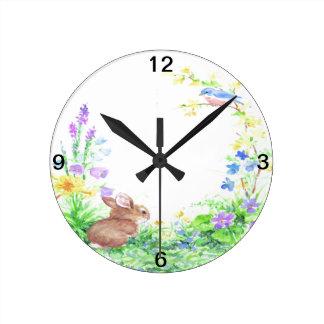 Peter Cotton Tail - Round Clock
