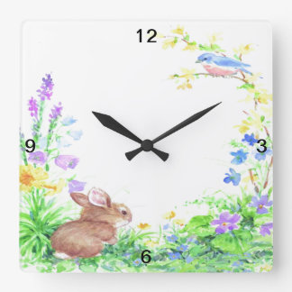 Peter Cotton Tail - Square Wall Clock