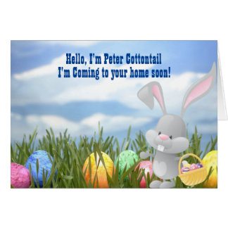 Peter Cottontail Is On His Way Easter Card
