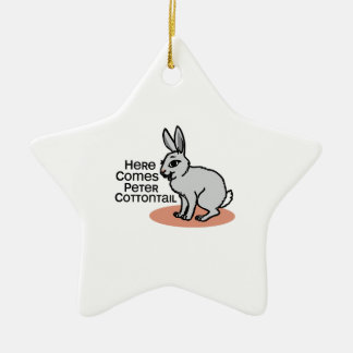 Peter Cottontail Christmas Ornament