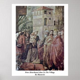 Peter distribuyó limosnas al pueblo por Masaccio Posters