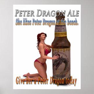Peter Dragon Ale Beach Poster