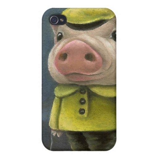 Peter el cerdo que navega su barco iPhone 4/4S fundas