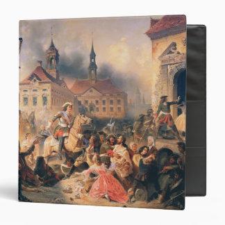 "Peter el grande conquista Narva en 1704, 1859 Carpeta 1 1/2"""