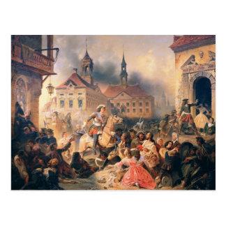 Peter el grande conquista Narva en 1704, 1859 Postales