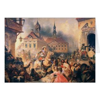 Peter el grande conquista Narva en 1704, 1859 Tarjeta De Felicitación