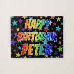 "[ Thumbnail: ""Peter"" First Name, Fun ""Happy Birthday"" Jigsaw Puzzle ]"