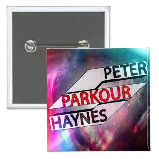 Peter Haynes: Diseño 1 de la insignia Pin Cuadrado