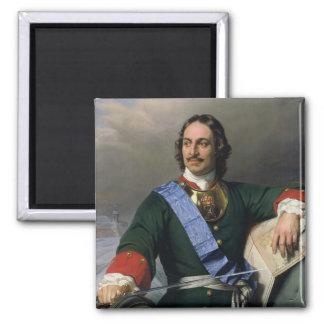 Peter I el gran 1838 Imán Cuadrado