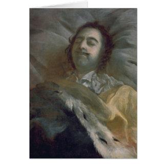 Peter I el grande en su lecho de muerte, 1725 Tarjeta De Felicitación