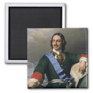 Peter I the Great  1838 2 Inch Square Magnet
