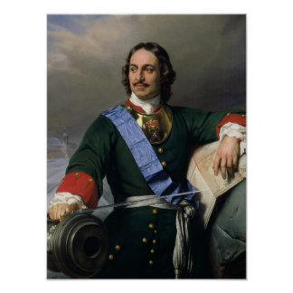 Peter I the Great  1838 Poster