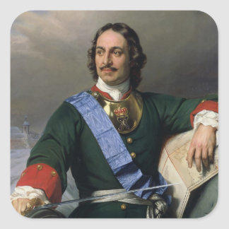 Peter I the Great  1838 Square Sticker