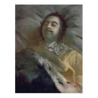 Peter I  the Great on his Deathbed, 1725 Postcard