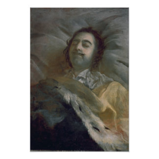 Peter I  the Great on his Deathbed, 1725 Poster