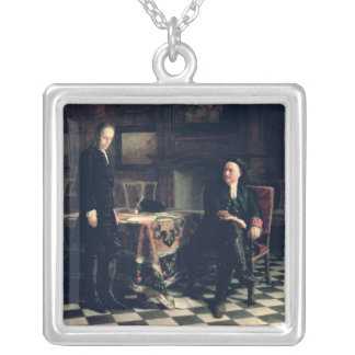 Peter I with his Son Square Pendant Necklace