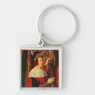 Peter II de Beaujeu of Bourbon Silver-Colored Square Keychain