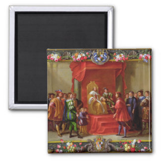 Peter IV, King of Aragon 2 Inch Square Magnet