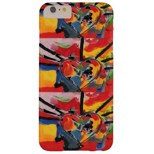 Peter Max 60s colorful watercolor abstract heart Barely There iPhone 6 Plus Case