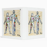 Peter Max art style muscle chart painting Binder