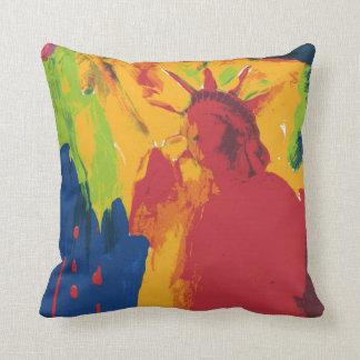 Peter Max artwork style MoJo Pillow