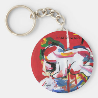 Peter Max style baby artist Keychain