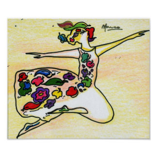 Peter Max style original signed painting Poster