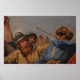 Peter Nicolás Arbo - la batalla del puente de Stam Póster